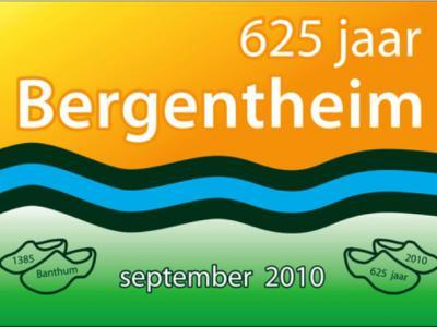In 2010 is het 625-jarig bestaan van Bergentheim gevierd; met name de maand september was vol met feestelijke activiteiten voor jong en ouder. Bergentheimer Wim Welleweerd heeft een logo en vlag voor het 625-jarig bestaan ontworpen.