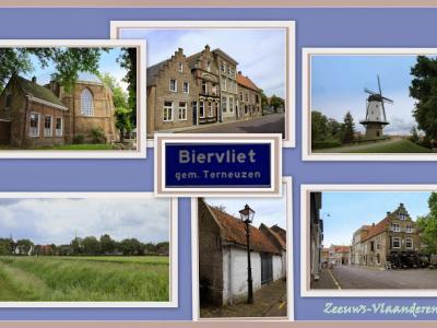 Biervliet, collage van dorpsgezichten (© Jan Dijkstra, Houten)