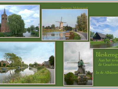 Bleskensgraaf, collage van dorpsgezichten (© Jan Dijkstra, Houten)