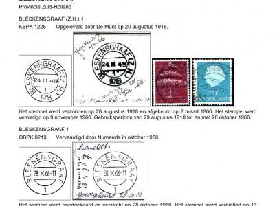 Van de oprichting in 1870 tot eind 1977 heet het postkantoor in het dorp Bleskensgraaf... Bleskensgraaf. Ook in bijv. de stempels en aantekenstrookjes. Logisch toch? (© Cees Janssen/http://poststempels.nedacademievoorfilatelie.nl)