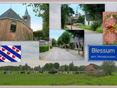Blessum, collage van dorpsgezichten (© Jan Dijkstra, Houten)