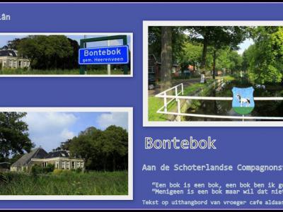 Bontebok, collage van dorpsgezichten (© Jan Dijkstra, Houten)