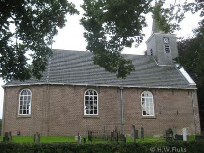 Boornbergum, de Hervormde kerk uit 1871 is het enige rijksmonument van dit dorp