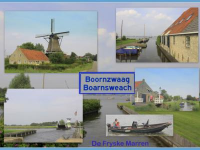 Boornzwaag, collage van dorpsgezichten (© Jan Dijkstra, Houten)