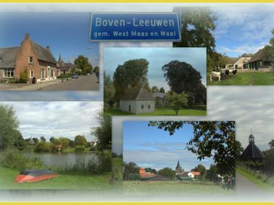 Boven-Leeuwen, collage van dorpsgezichten (© Jan Dijkstra, Houten)