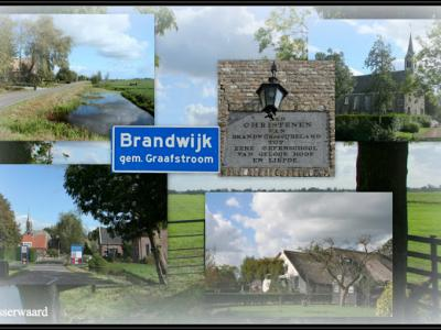 Brandwijk, collage van dorpsgezichten (© Jan Dijkstra, Houten)