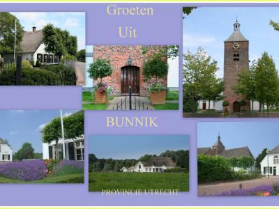 Bunnik, collage van dorpsgezichten (© Jan Dijkstra, Houten)