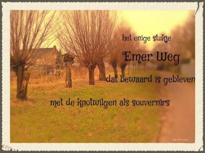 De oude, agrarische buurtschap Buurstede Heike (waar de Emerweg een onderdeel van was) is de afgelopen decennia grotendeels verdwenen voor allerlei infrastructuur op het gebied van wonen, wegen en werken. Er is maar een klein stuk van overgebleven.