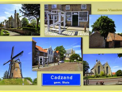 Cadzand, collage van dorpsgezichten (© Jan Dijkstra, Houten)