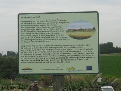 Informatiebord Campensnieuwland. © H.W. Fluks
