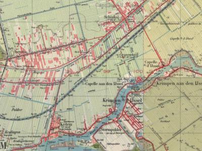 Tot in de jaren vijftig blijft Capelle aan den IJssel een landelijk gelegen gemeente, met de dorpjes Capelle gelegen in het ZO aan de rivier, Keten in het ZW, en Schinkel in het N. Nadien groeit in slechts enkele decennia tijd alles aan elkaar.