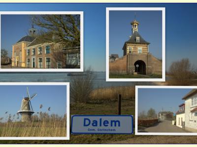 Dalem, collage van dorpsgezichten (© Jan Dijkstra, Houten)