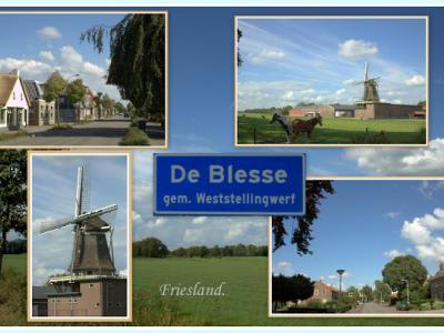 De Blesse, collage van dorpsgezichten (© Jan Dijkstra, Houten)