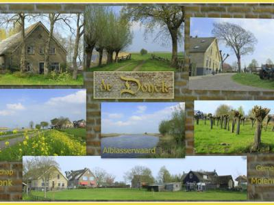 De Donk, collage van buurtschapsgezichten (© Jan Dijkstra, Houten)