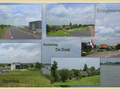 De Hoek, collage van buurtschapsgezichten (© Jan Dijkstra, Houten)