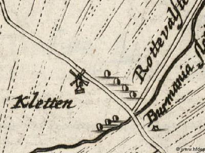 Buurtschap De Kletten wordt voor het eerst vermeld op de Schotanuskaart uit 1664 en is dan een bedrijvig buurtje i.v.m. de turfvaart, met o.a. een rogmolen, die op de kaart staat afgebeeld.