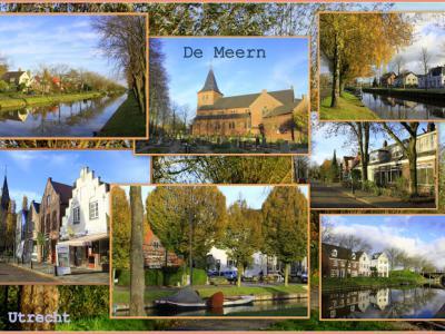 De Meern, collage van dorpsgezichten (© Jan Dijkstra, Houten)