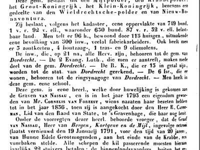 Dit is wat Van der Aa anno ca. 1840 heeft te melden over de gem. De Mijl, die ook wel De Mijl, Krabbe en Nadort werd genoemd. Van de eerste 2 namen is de herkomst duidelijk, maar tot heden hebben we geen idee wat dat Nadort voor ding is geweest. U wel?
