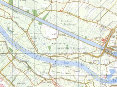 Het is puur toeval dat er op de O 'slurf' van het Eiland van Schalkwijk twee bijna gelijknamige buurtschappen liggen: in het W buurtschap Den Oord (deels gem. Wijk bij Duurstede, deels gem. Houten), in het O buurtschap De Noord (gem. Wijk bij Duurstede).