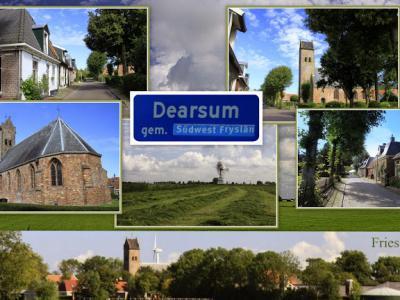 Dearsum, collage van dorpsgezichten (© Jan Dijkstra, Houten)