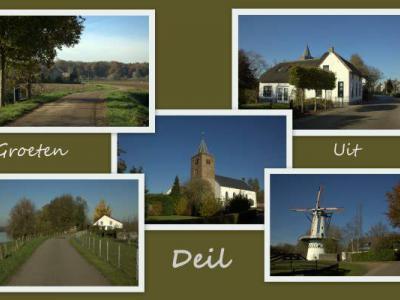 Deil, collage van dorpsgezichten (© Jan Dijkstra, Houten)