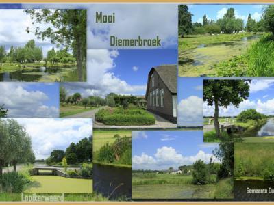 Het vroegere dorpje Diemerbrug is genoemd naar een brug in Diemen, maar Diemerbroek is niet genoemd naar het 'broek' bij Diemen. Het ligt nl. bij het dorpje Papekop in de gem. Oudewater. (© Jan Dijkstra, Houten)