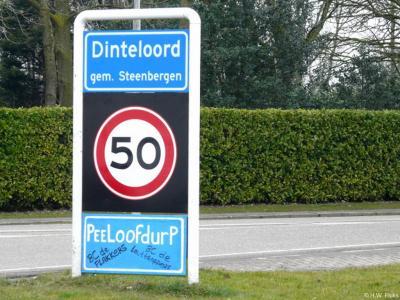 Dinteloord is een dorp in de provincie Noord-Brabant, in de regio West-Brabant, en daarbinnen in de streek Baronie en Markiezaat, gemeente Steenbergen. T/m 1996 gemeente Dinteloord en Prinsenland. Tijdens carnaval heet het dorp Peeloofdurp.