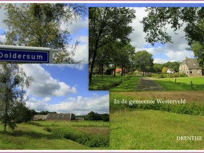 Doldersum, collage van dorpsgezichten (© Jan Dijkstra, Houten)