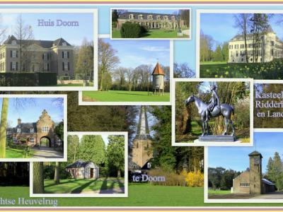 Doorn, collage van het imposante Huis Doorn e.o.
