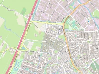Doornsteeg is een buurtschap in de gemeente Nijkerk, rond de gelijknamige weg en de Olevoortseweg. De komende jaren verrijst hier een gelijknamige nieuwbouwwijk van ca. 1.200 woningen. (© www.openstreetmap.org)