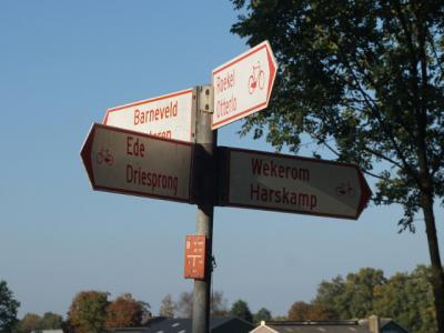 Het komt in ons land helaas nogal eens voor dat er wel een keurig richtingbordje naar een buurtschap in de omgeving staat, maar dat ter plekke geen plaatsnaamborden staan, zodat je niet kunt zien wanneer je er bent aangekomen. Zoals hier bij Driesprong.