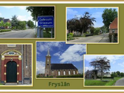 Driezum is een dorp in de provincie Fryslân, gemeente Dantumadiel. (© Jan Dijkstra, Houten)