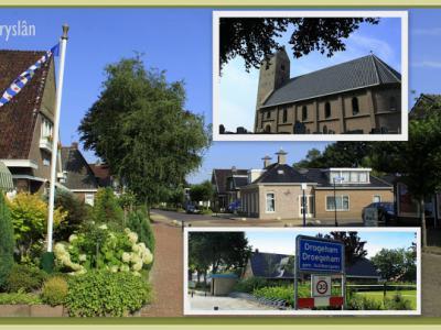 Drogeham is een dorp in de provincie Fryslân, gemeente Achtkarspelen. (© Jan Dijkstra, Houten)