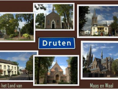 Druten, collage van dorpsgezichten (© Jan Dijkstra, Houten)