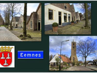 Eemnes, collage van dorpsgezichten aan de Wakkerendijk (© Jan Dijkstra, Houten)
