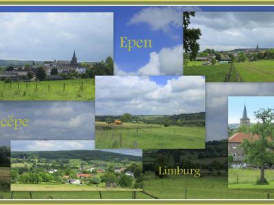 Epen, collage van dorpsgezichten (© Jan Dijkstra, Houten)