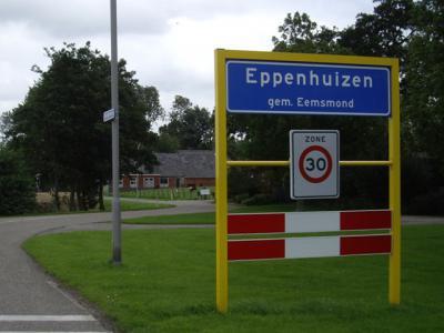 Eppenhuizen is met slechts ca. 80 inwoners het kleinste dorp van de gemeente Eemsmond (© H.W. Fluks)