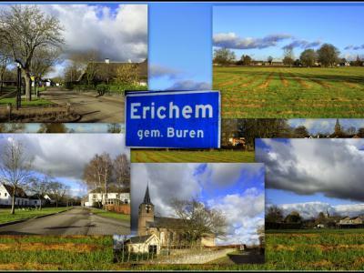 Erichem, collage van dorpsgezichten (© Jan Dijkstra, Houten)