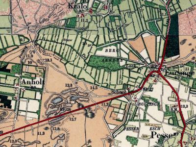 De eeuwenoude buurtschap(snaam) Bultinge wordt op kaarten van rond 1900 alleen nog als veldnaam vermeld (omdat de gemeenteaanduiding 'Rn' er niet onder staat, in tegenstelling tot bijv. bij Pesse, Eursinge, Anholt en Kraloo).