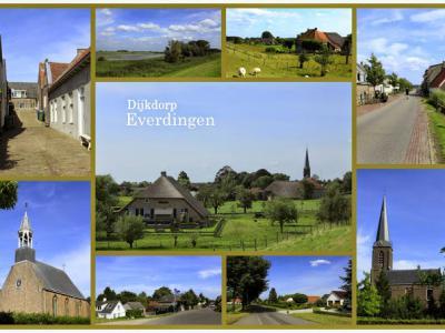 Everdingen, collage van dorpsgezichten (© Jan Dijkstra, Houten)