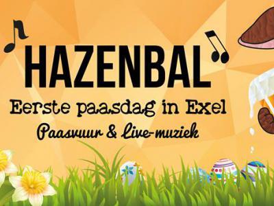 Op eerste paasdag is er in het dorp Exel het Hazenbal (= paasvuur met livemuziek)
