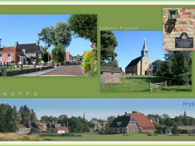 Exmorra, collage van dorpsgezichten (© Jan Dijkstra, Houten)