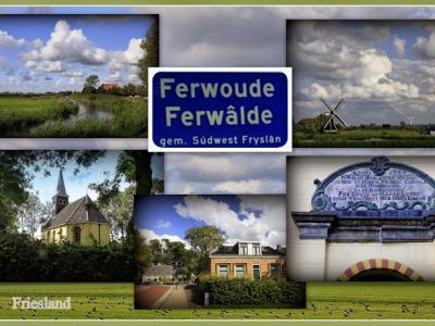 Ferwoude, collage van dorpsgezichten (© Jan Dijkstra, Houten)