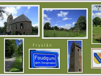 Foudgum, collage van dorpsgezichten (© Jan Dijkstra, Houten)
