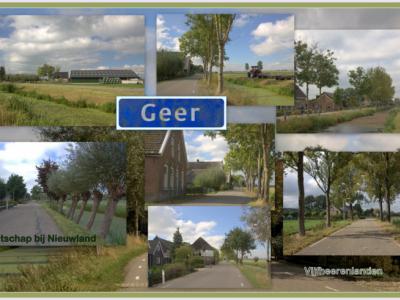 Geer is een buurtschap in de provincie Utrecht (t/m 2018 provincie Zuid-Holland), in de streek en gemeente Vijfheerenlanden. T/m 1985 grotendeels gemeente Nieuwland, deels gemeente Leerbroek. (© Jan Dijkstra, Houten)