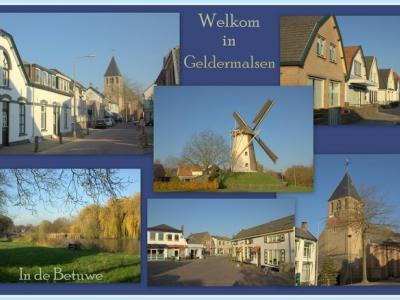 Geldermalsen is een dorp in de provincie Gelderland, in de streek Betuwe, gemeente West Betuwe. Het was een zelfstandige gemeente t/m 2018. (© Jan Dijkstra, Houten)