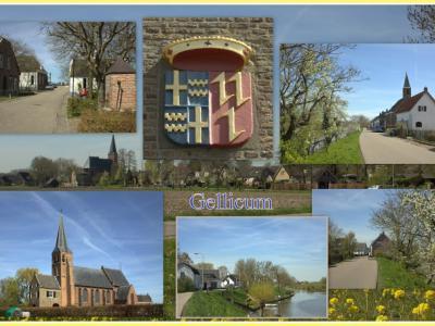 Gellicum, collage van dorpsgezichten (© Jan Dijkstra, Houten)