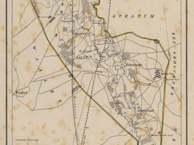 Gemeente Aalst anno ca. 1870, kaart J. Kuijper (collectie www.atlasenkaart.nl)
