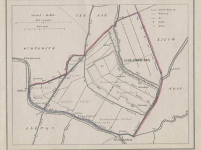 Gemeente Aarlanderveen anno ca. 1870, kaart J. Kuijper (collectie www.atlasenkaart.nl)