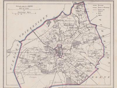 Gemeente Ambt Almelo anno ca. 1870, kaart J. Kuijper (collectie www.atlasenkaart.nl)